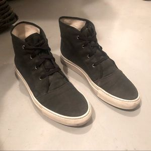 Common Projects Canvas High Sneaker, Black, Sz 44